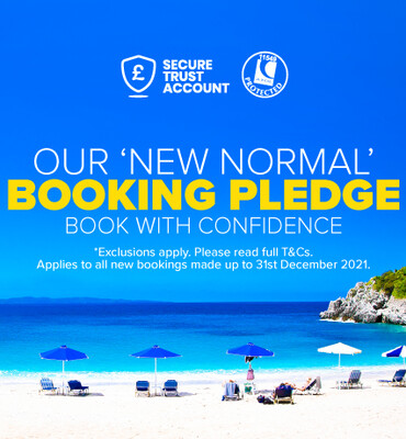 Our new normal booking pledge homepage pod - beta